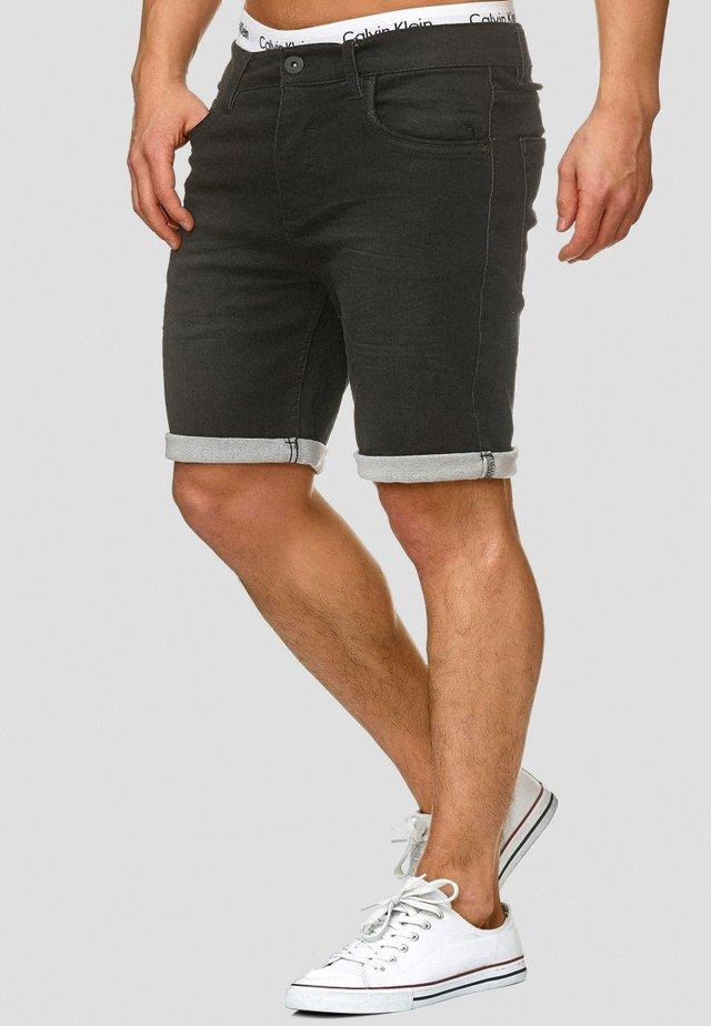 LONAR - Jeans Shorts - black