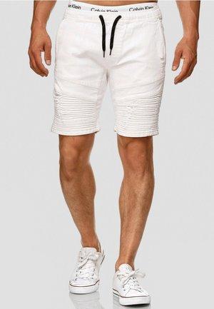 MIT ELASTISC - Denim shorts - off white