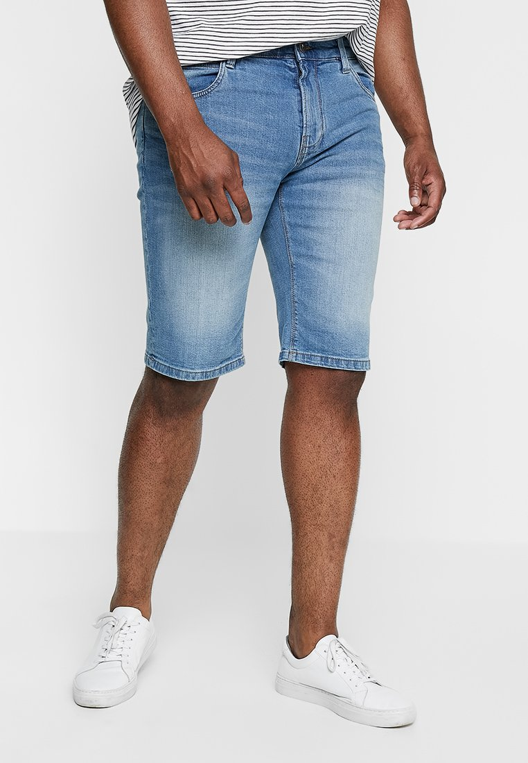 INDICODE JEANS - KADEN PLUS - Jeans Shorts - blue wash