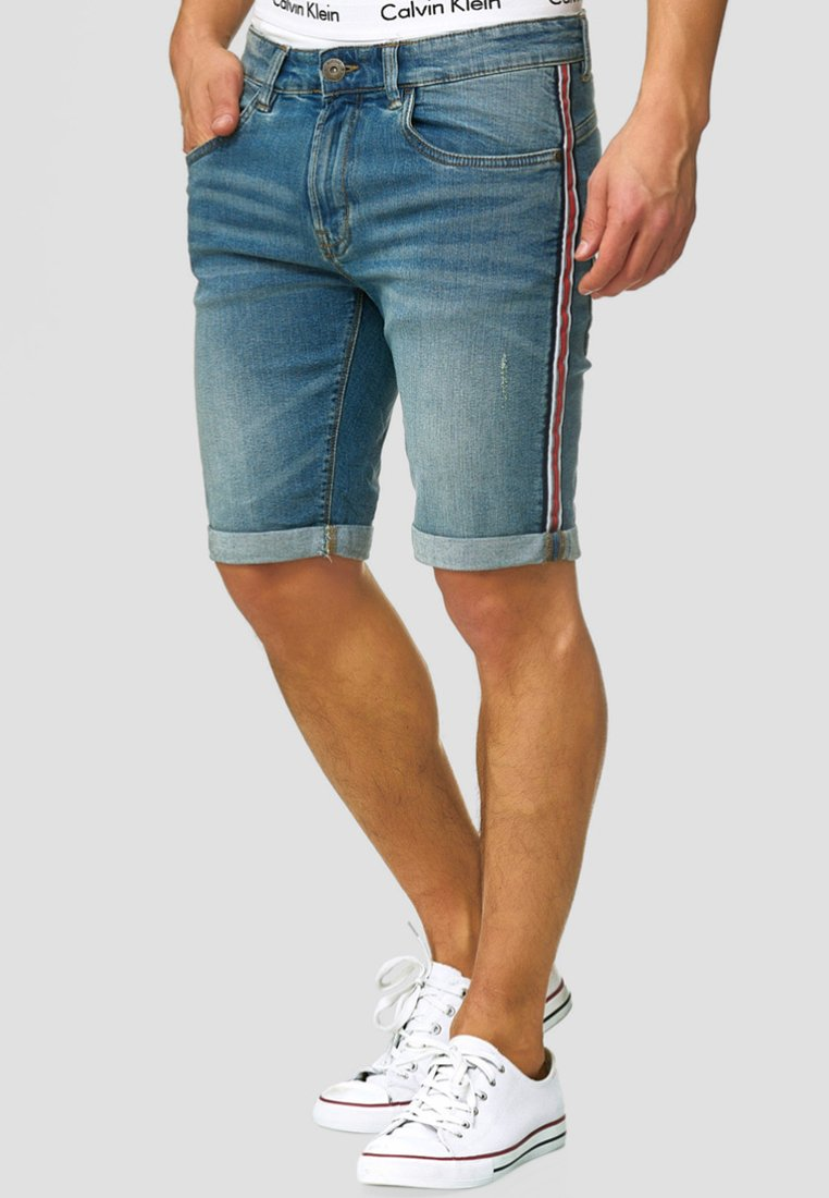 INDICODE JEANS - Jeans Shorts - blue wash