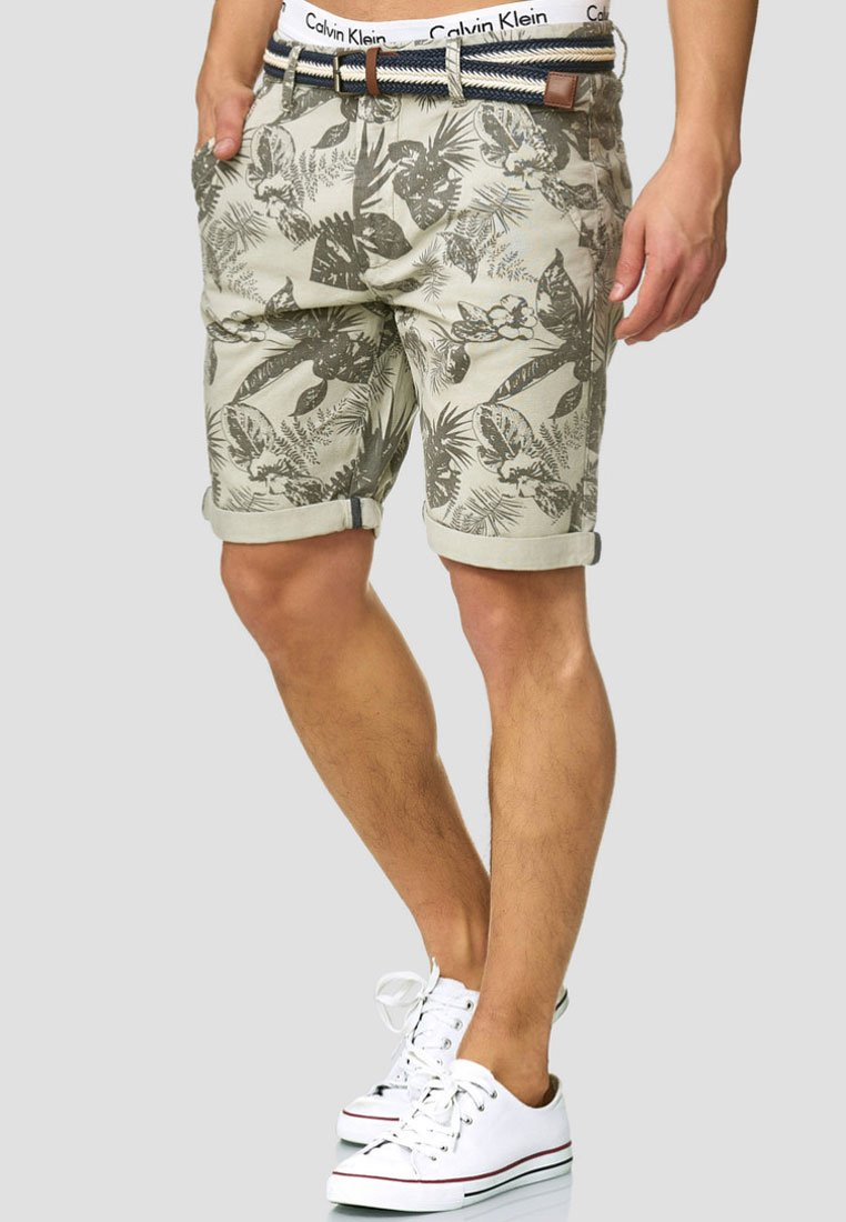 INDICODE JEANS - Shorts - light gray