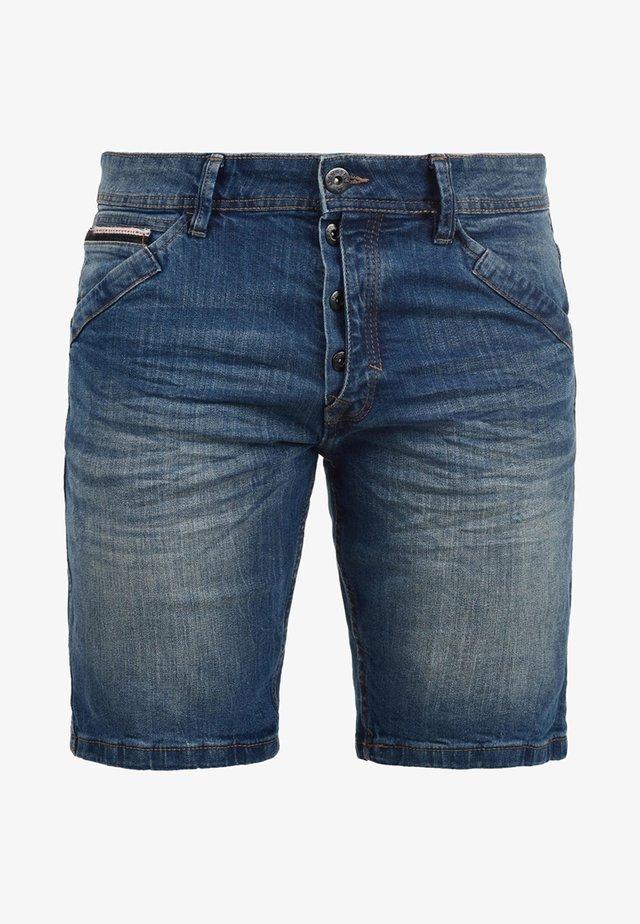 ALESSIO - Denim shorts - blue