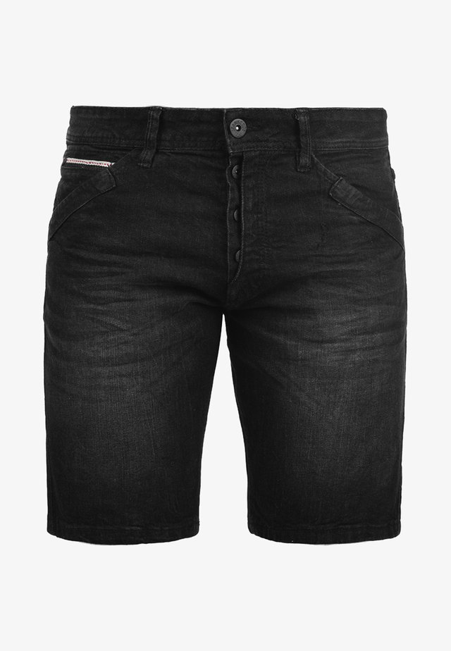 ALESSIO - Denim shorts - black