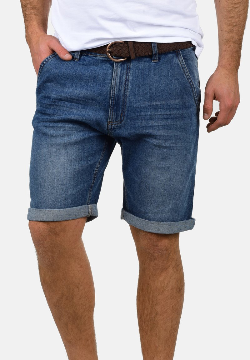 INDICODE JEANS - QUINCY - Denim shorts - blue