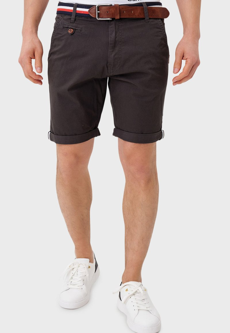 INDICODE JEANS - Shorts - anthracite