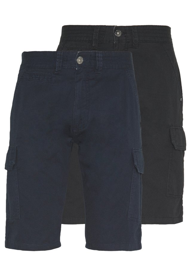 EXCLUSIVE ATWATER 2 PACK - Cargobukse - navy/black