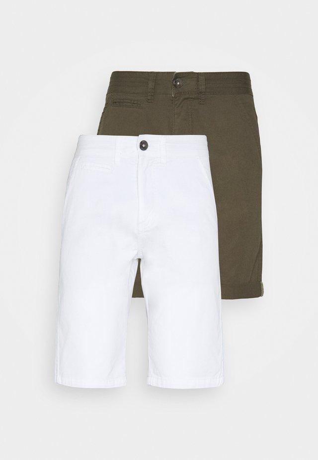 EXCLUSIVE STELLAN 2 PACK - Shorts - kakhi/offwhite