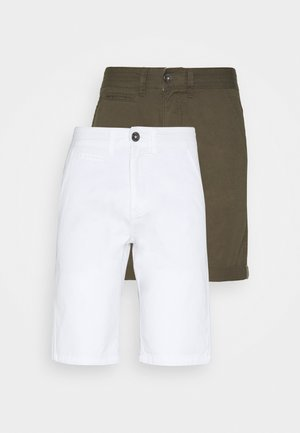 EXCLUSIVE STELLAN 2 PACK - Shorts - kakhi/offwhite