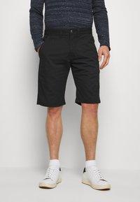INDICODE JEANS - EXCLUSIVE STELLAN 2 PACK - Shorts - black / amber - 3