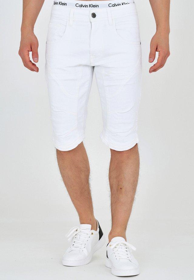 LEON - Szorty jeansowe - offwhite
