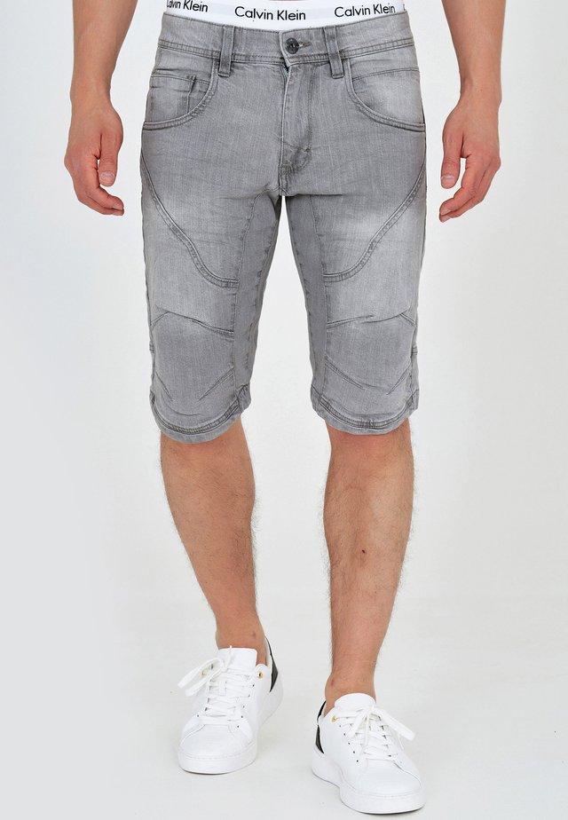 LEON - Farkkushortsit - lt grey