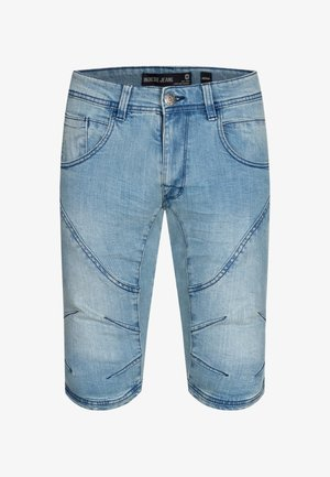 LEON - Szorty jeansowe - blue wash