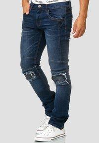 INDICODE JEANS - NEVADA - Slim fit jeans - blue - 3