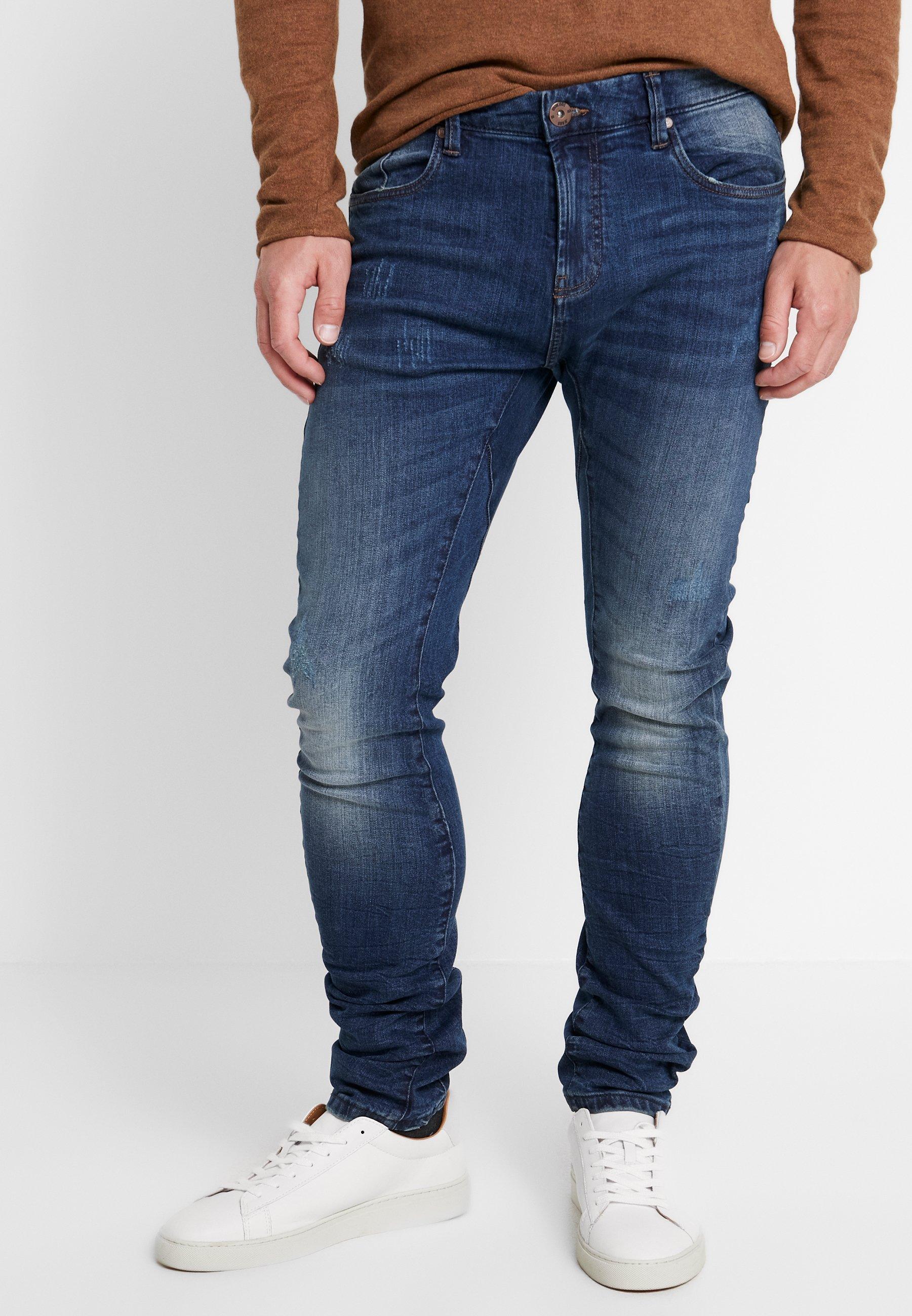 Denim Blue Indicode LearFuselé Jeans LearFuselé Indicode Jeans 9H2IeEDWY