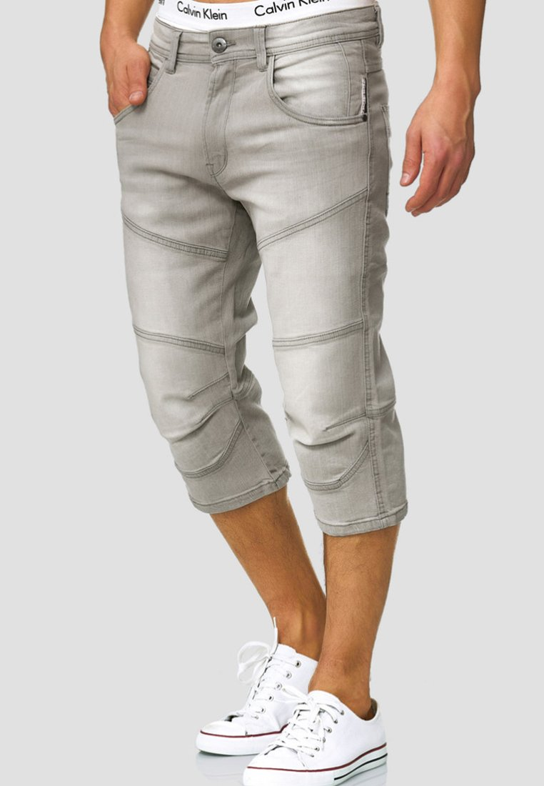 INDICODE JEANS - Jeans Shorts - light grey