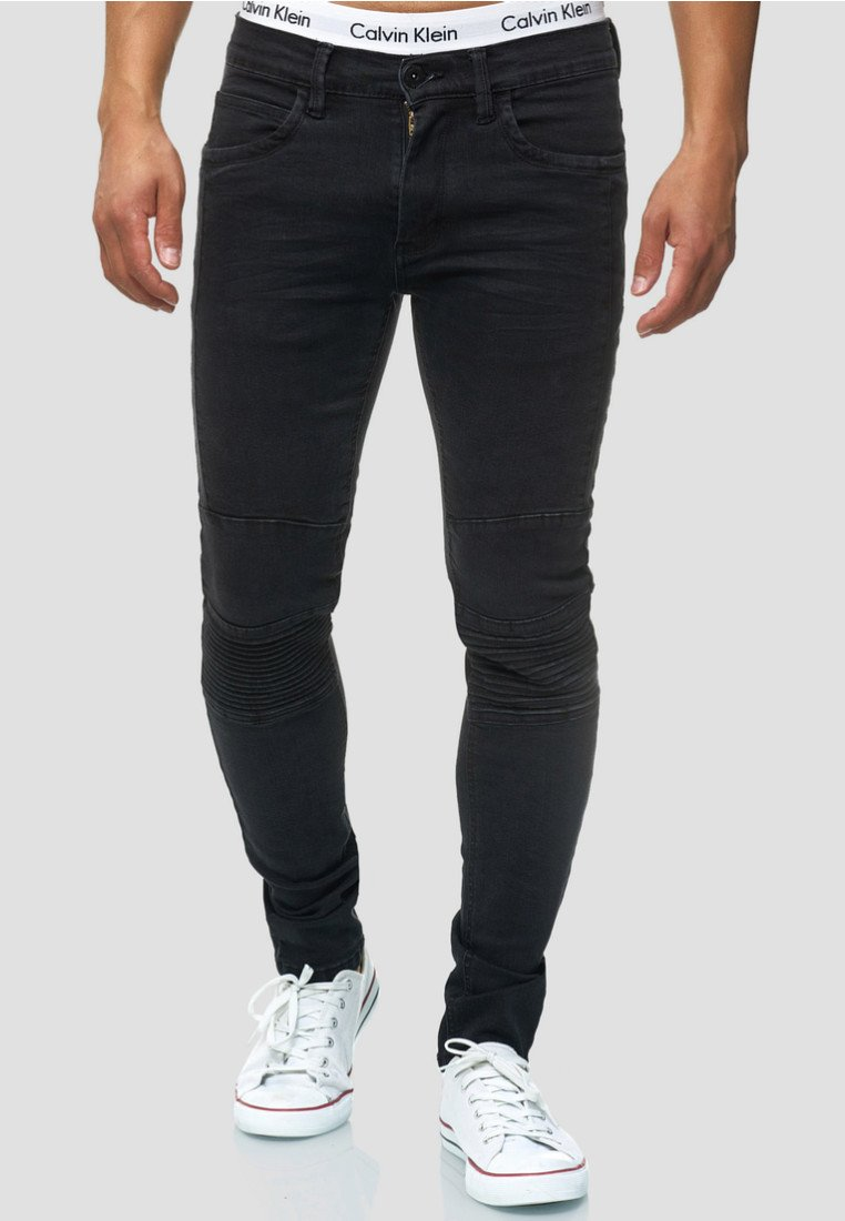 INDICODE JEANS - Jeans Slim Fit - black