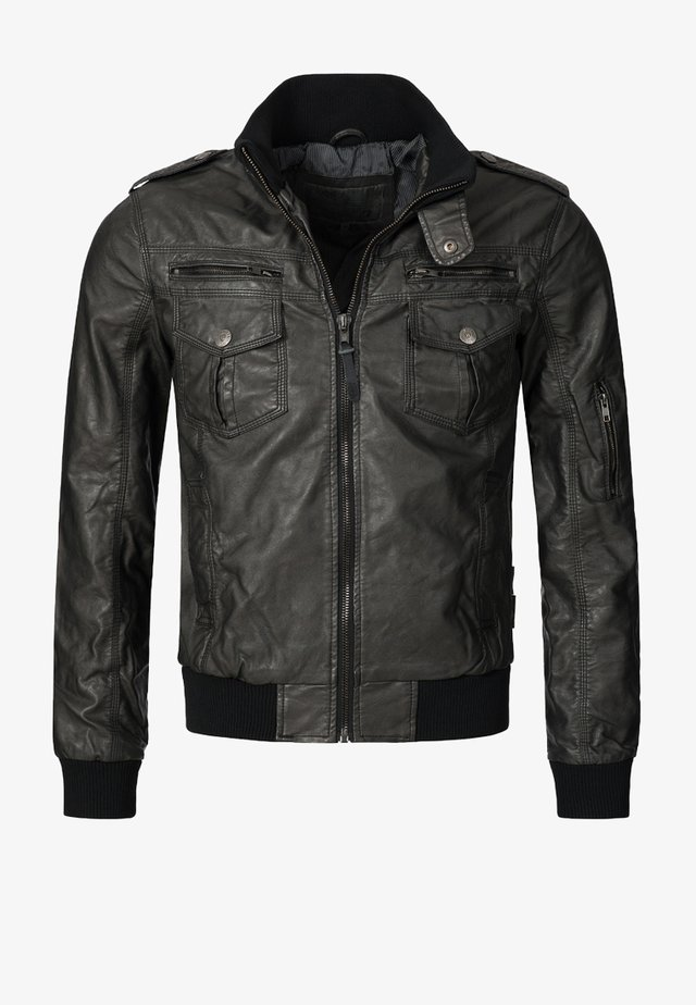 INCO - Faux leather jacket - schwarz