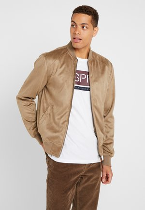 FORT WAYNE - Faux leather jacket - beige