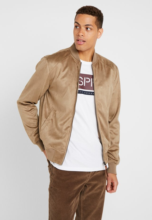 FORT WAYNE - Faux leather jacket - beige