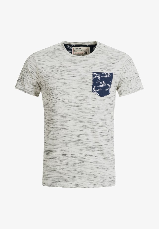 BLAINE - Print T-shirt - grau