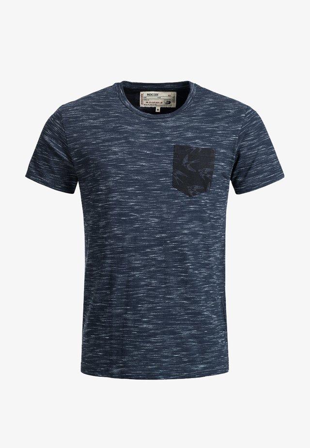 BLAINE - Print T-shirt - blau