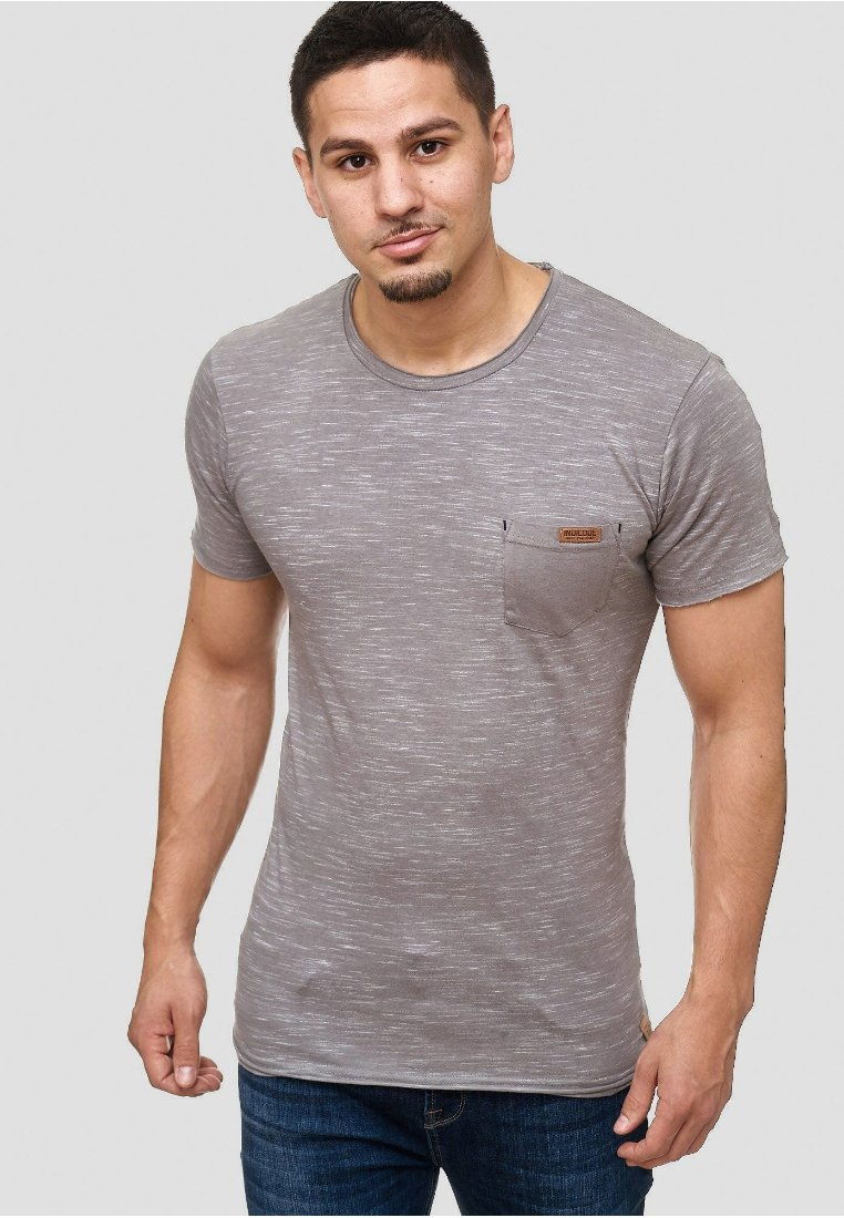 INDICODE JEANS - Print T-shirt - light grey