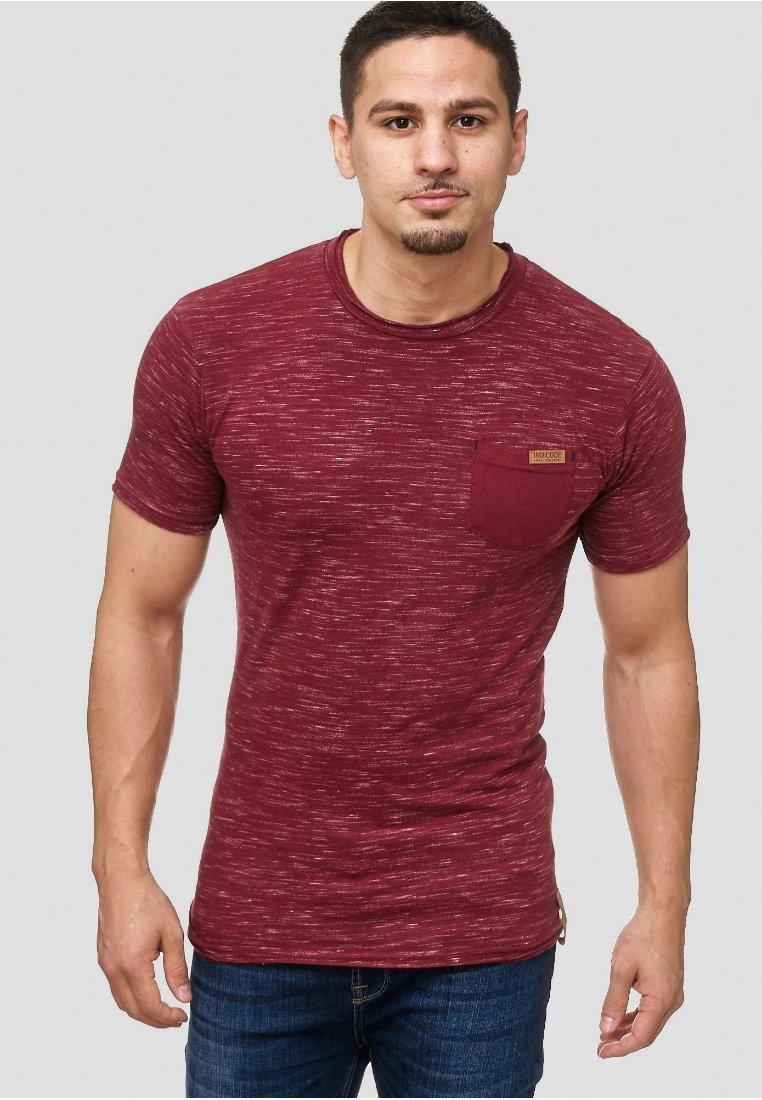INDICODE JEANS - Print T-shirt - bordeaux