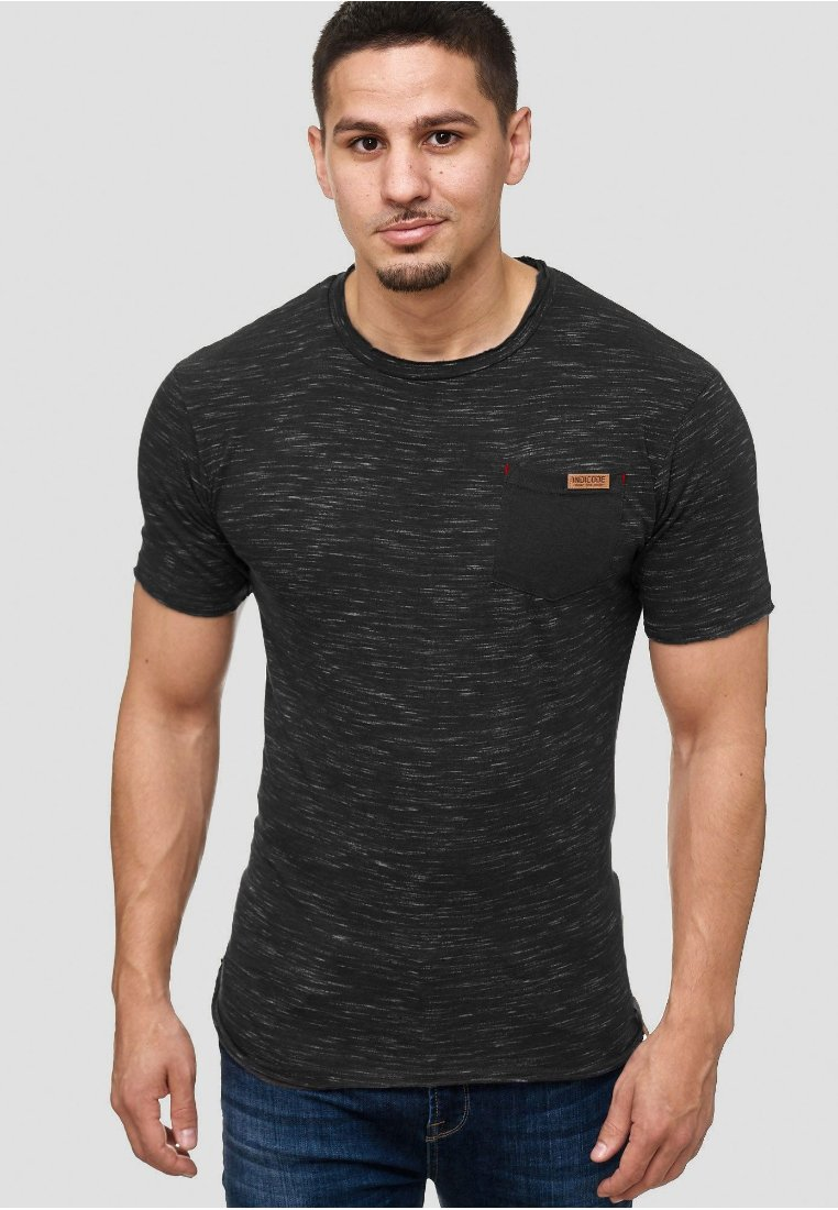 INDICODE JEANS - Print T-shirt - black