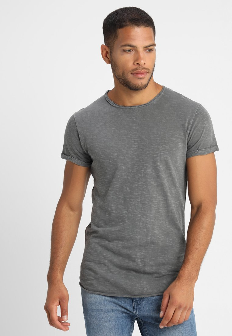 INDICODE JEANS - ALAIN - Basic T-shirt - pewter