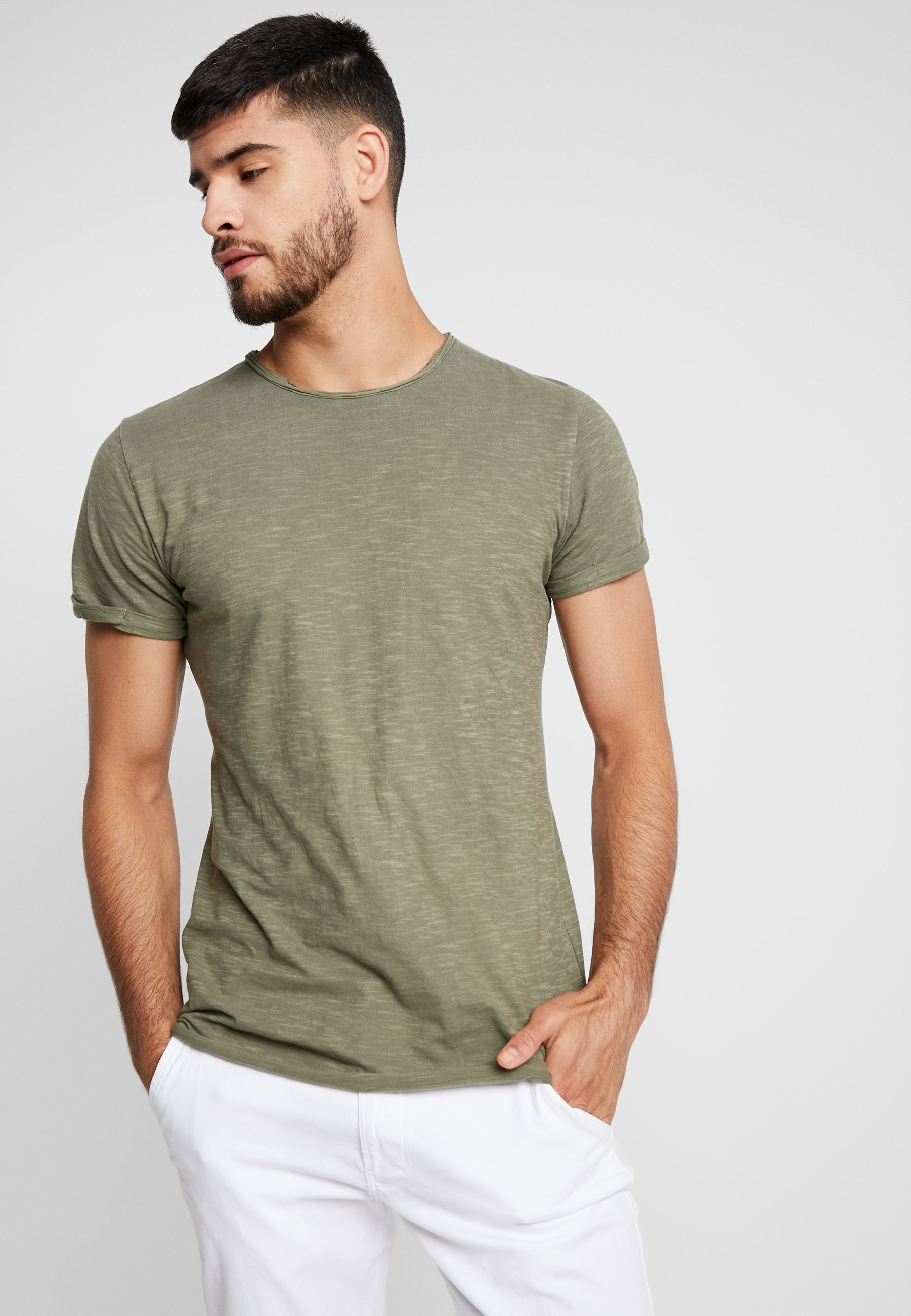 INDICODE JEANS ALAIN - T-shirt basic - army