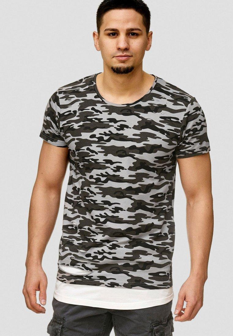 INDICODE JEANS - LUND - T-shirt basic - khaki