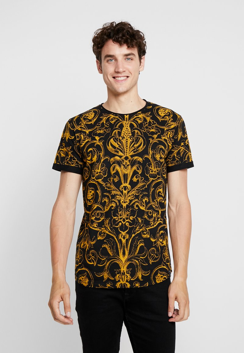 INDICODE JEANS - WALDEN - T-shirt imprimé - black
