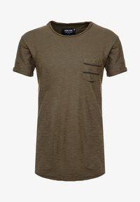 INDICODE JEANS - VILLENEUVE - T-shirt imprimé - army - 3