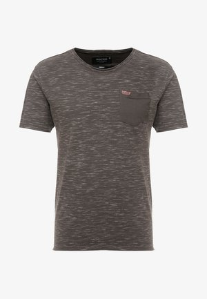 HULSA - T-shirt print - charcoal mix
