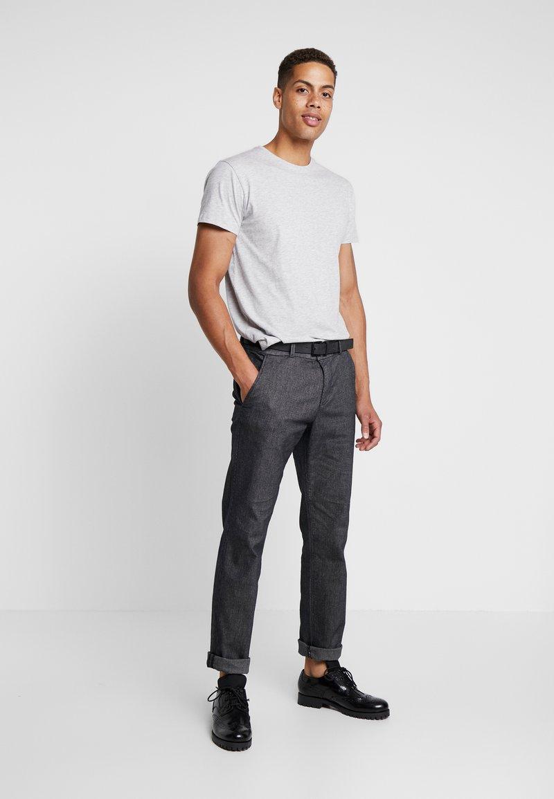 INDICODE JEANS - AARS 2 PACK - T-shirt basic - light grey