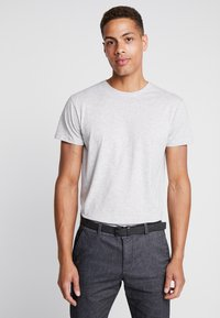 INDICODE JEANS - AARS 2 PACK - T-shirt basic - light grey - 1