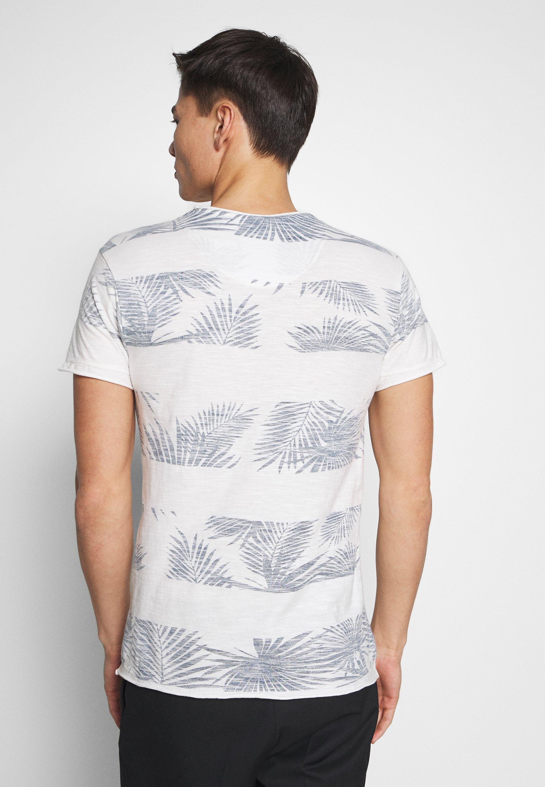 INDICODE JEANS ALLEN - T-shirt z nadrukiem - offwhite