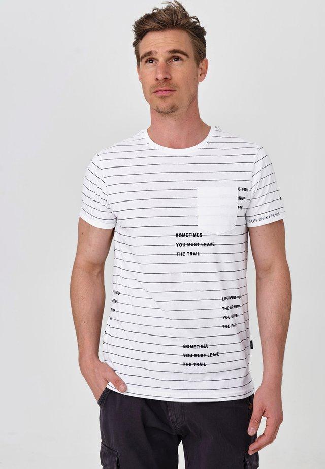 ECHOLS - T-Shirt print - optical white
