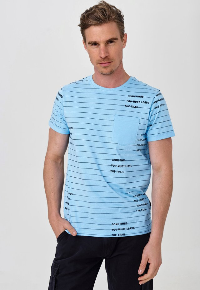 ECHOLS - T-Shirt print - alaska blue