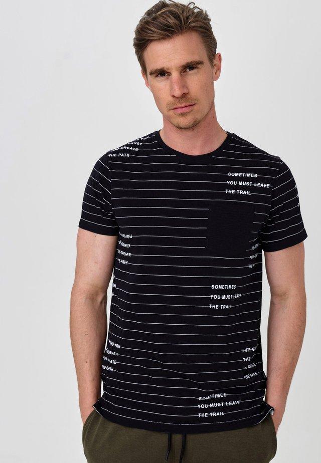 ECHOLS - T-Shirt print - black