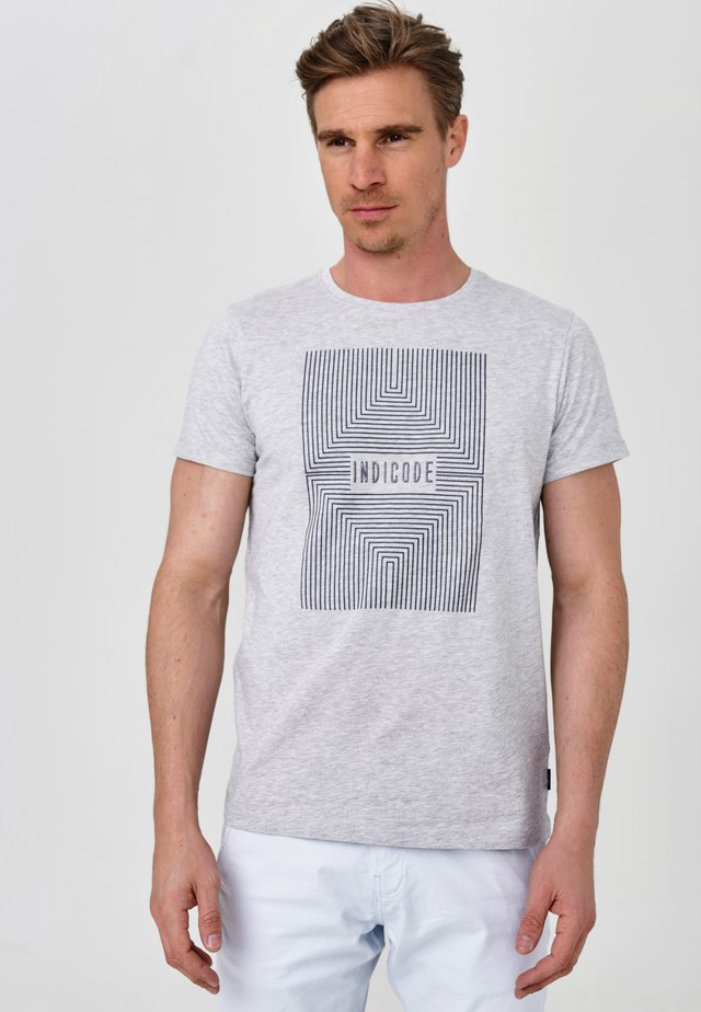 EASON - T-shirt med print - lt grey mix