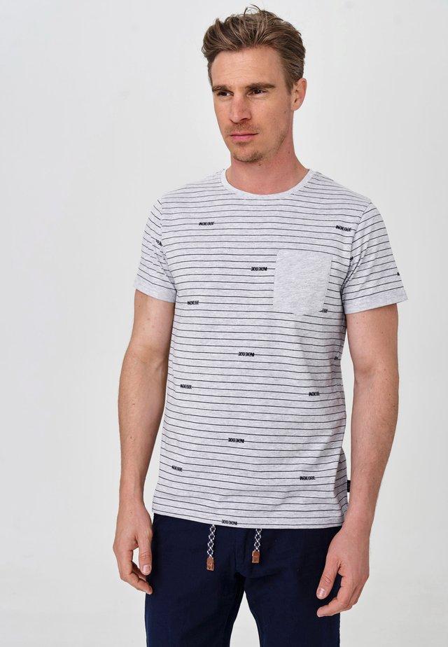 ECKLEY - T-Shirt print - lt grey mix