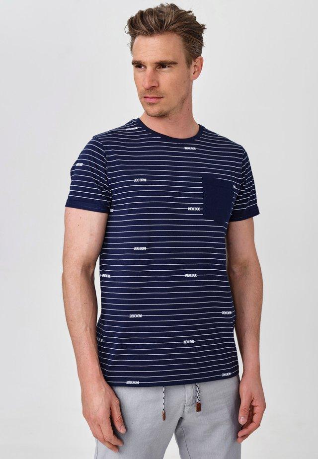ECKLEY - T-Shirt print - navy