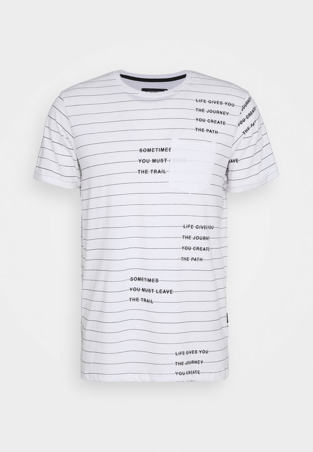 ECHOLS - T-shirt con stampa - optical white
