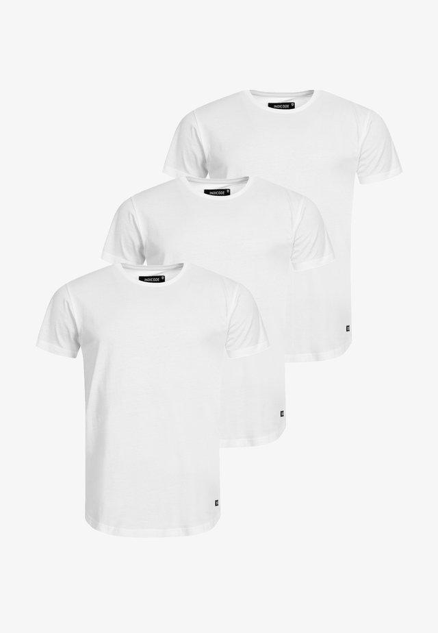 3 PACK - Basic T-shirt - optical white