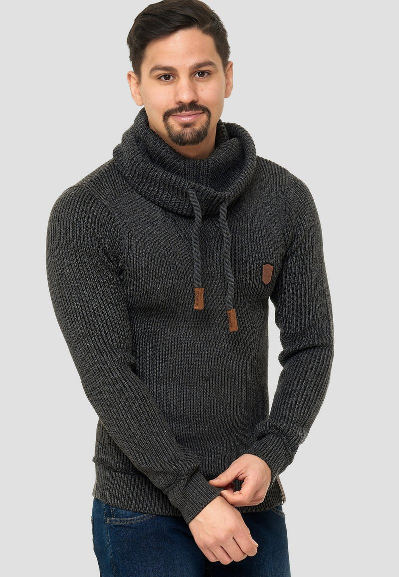 INDICODE JEANS - KESHAWN - Pullover - anthrazit