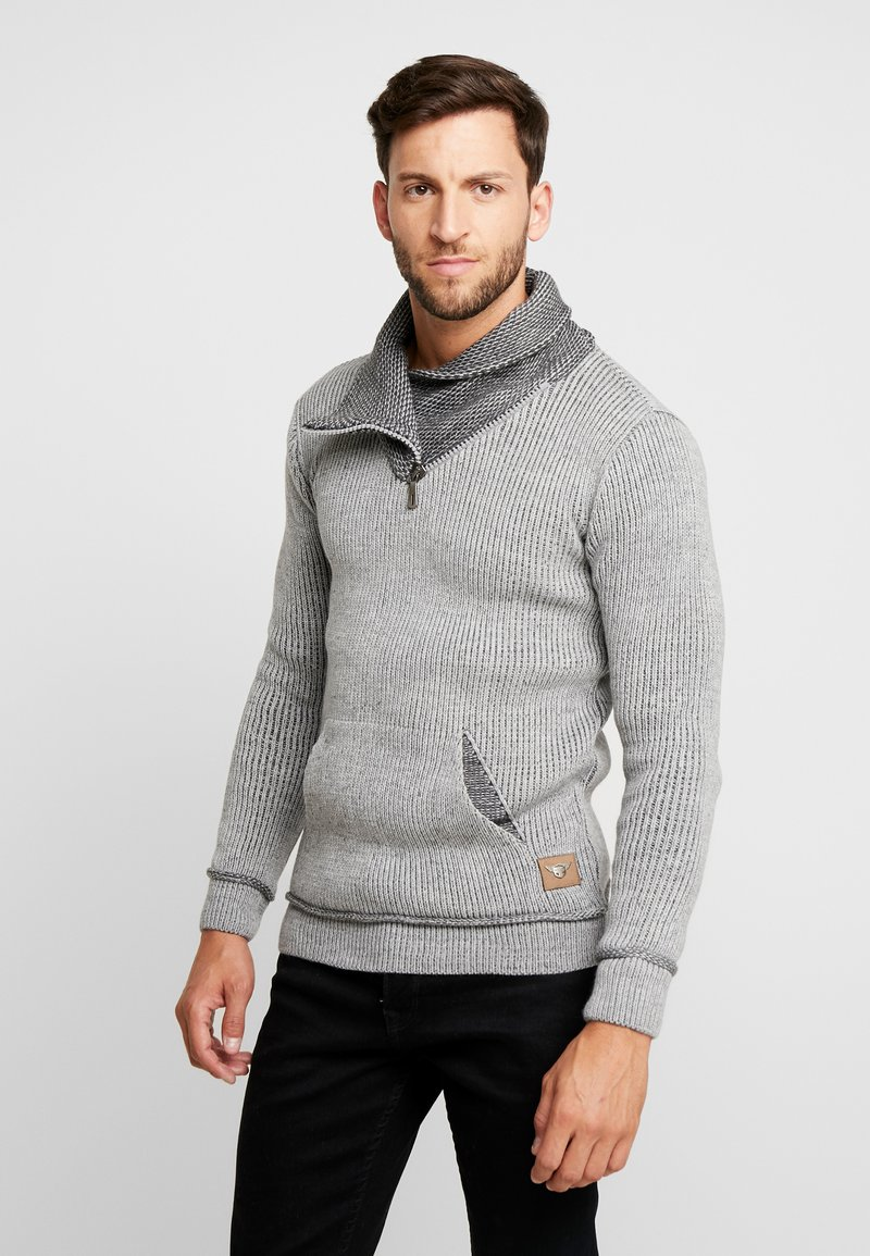 INDICODE JEANS - DANE - Strickpullover - light grey