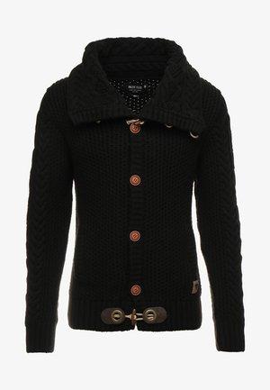STONE - Stickad tröja - black