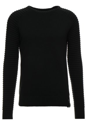 MAXIME - Stickad tröja - black