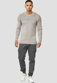 INDICODE JEANS - Pullover - light grey - 1